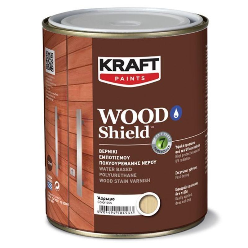"""Ακρυλικό βερνίκι Wood Shield - Kraft Paint """"Άχρωμο"""" 0.75L"""