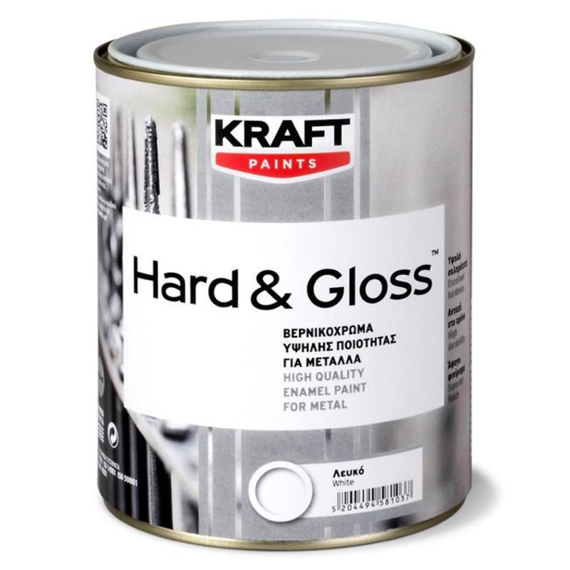 """Βερνικόχρωμα Hard & Gloss - Kraft Paints """"Θάλασσα 65"""" 0.18L"""