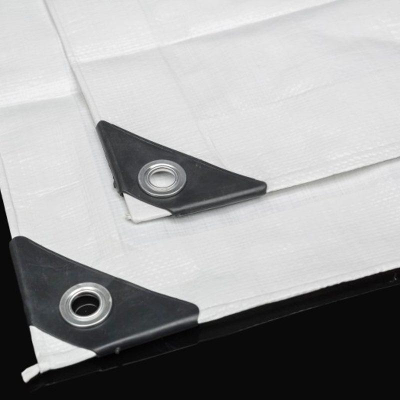 Μουσαμάς Λευκός 5 Χ 10 Αδιάβροχος Με Κρίκους 190gr/m2
