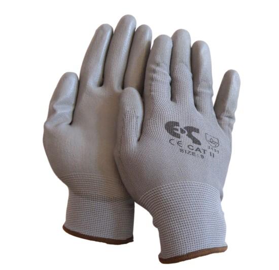 Γάντια Εργασίας Λεπτά PU Γκρι