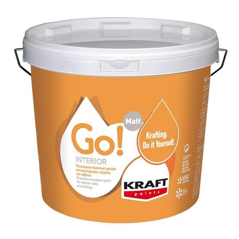 Πλαστικό Χρώμα Go! Interior - Kraft Paints 3L