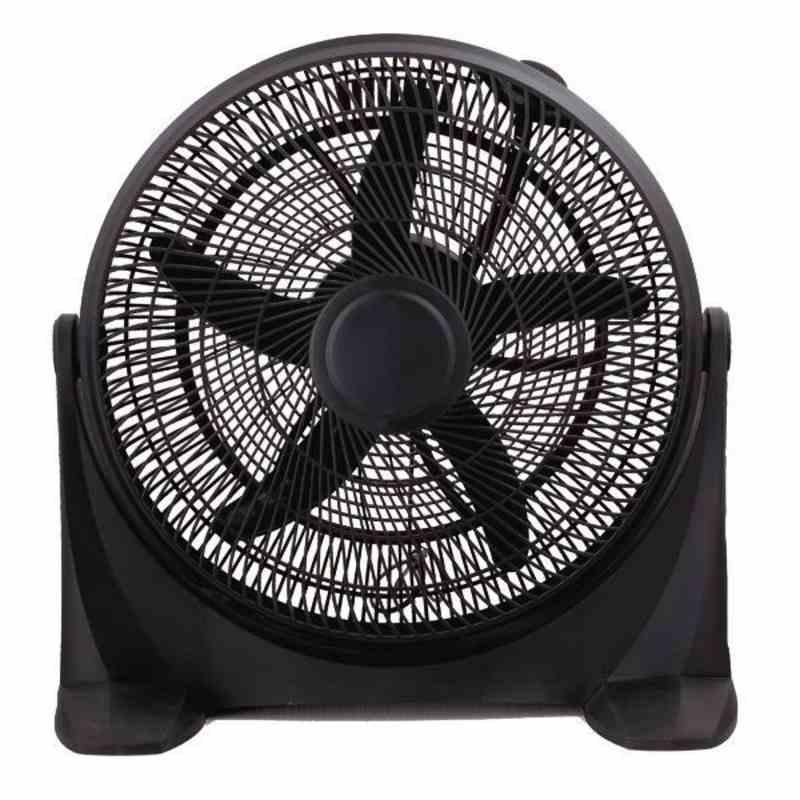 Ανεμιστήρας Box Fan Στρογγυλός Μαύρος Φ50 90W